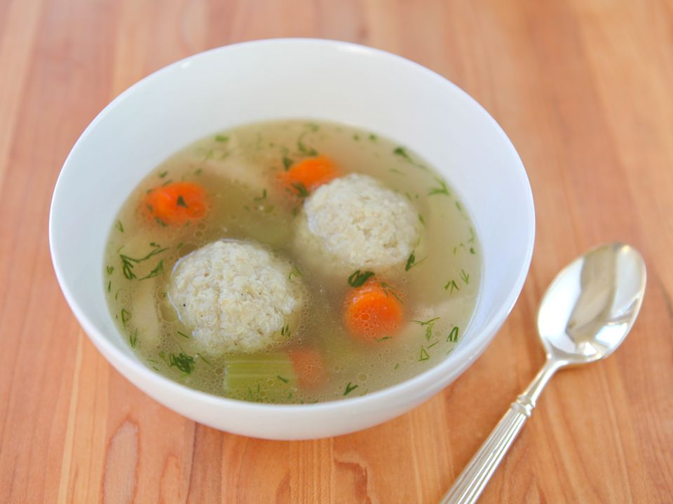 Spring Vegetable And Mini Matzo Ball Chicken Soup Recipe ...
